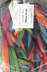 Last One -  <br>Vintage Find!<br>  <br>Wool Strips by Marcus Brothers - Brights