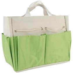 "Allary Project Tote Project Tote, Lime and Light Gray, 9.5"" x 8.5"" x 5"""