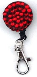 Red Round Bling Clip