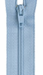 Last One!  All-Purpose Polyester Coil Zipper 6in Blue