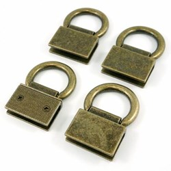 Edge Connector Strap Anchors in Antique Brass (4 Pack)