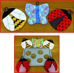 Last One!  Bugs!  Pot Grabbers Pattern by Susie C. Shore Designs