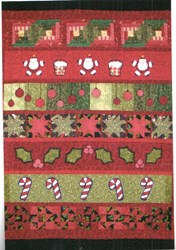 Christmas Row Quilt with Optional Kit by Summer Love & Company