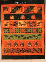 Halloween Row Quilt with Optional Kit by Summer Love & Company