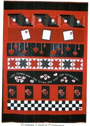 He Loves Me Valentine Row Quilt with Optional Kit by Summer Love & Company