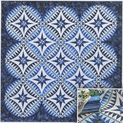 Something Blue Pattern with Foundation Papers by Jacqueline de Jonge