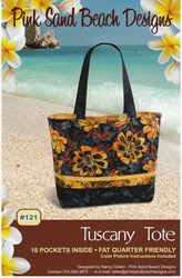 Tuscany Tote Pattern #121 by Pink Sands Beach