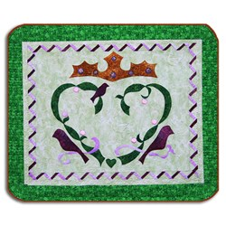 Pin It Up Wall Hanging Series - March - Irish Claddagh Ring