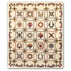 Baltimore Variations Queen Size Block of the Month Quilt