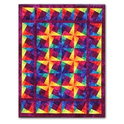 Star Fire Twin Size or Queen Size Quilt kit