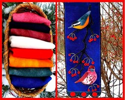 Limited Edition Fluttering Winter & Bonus - Free Birds & Berries Wall Hanging Pattern