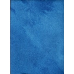 "Bright Blue - Large 16"" x 25""  - 100% Hand Dyed Wool"
