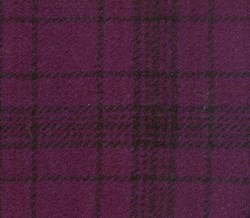 Grape Plaid Hand Dyed Wool Fat Quarter