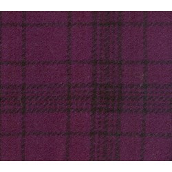 Grape Plaid Hand Dyed Wool Fat Eighth