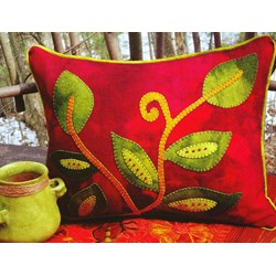 Vintage Vines Wool Applique Throw Pillow Kit