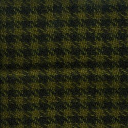 Green & Black  Houndstooth  Hand Dyed  Wool Fat Eighth