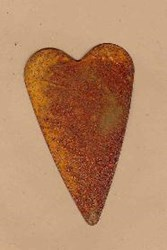 Rusty Tin Hearts - 3 Inch - Set of 2