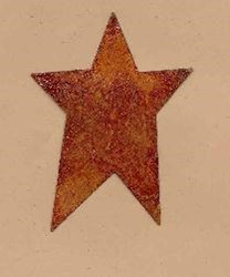 Rusty Tin Stars - 1 3/4 Inch - Set of 4
