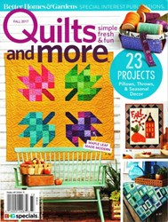 Quilts more fall 2013 Better homes and gardens tonight