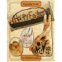 VINTAGE FIND!! Eggsactly Easter Pattern Booklet By Kindred Spirts