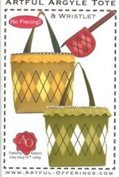 Artful Argyle Tote - No Piecing!