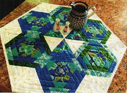 Hexagons in Paradise Table Topper Quilt Pattern by Cut Loose Press
