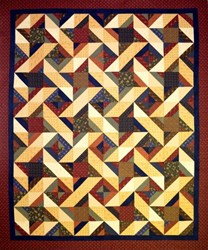Hot Cross Stars Quilt Pattern by Cut Loose Press