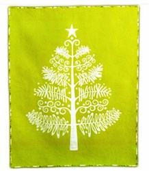 Oh Christmas Tree... Applique Quilt Kit in Chartreuse