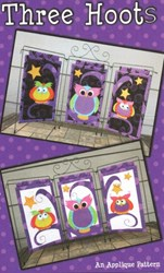 Three Hoots Halloween Applique Pattern by Whistlepig Creek Productions