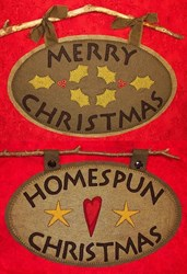 Wooly Christmas Signs Pattern<br>Artful Offerings
