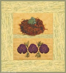Bird Nest & Pansies Pattern
