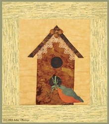 Birdhouse & Bluebird Pattern