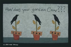 How does your garden Crow??? Pattern