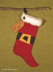 Santa's Ho Ho Ho Stocking Pattern
