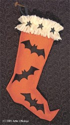 Vintage Halloween Stocking  Pattern
