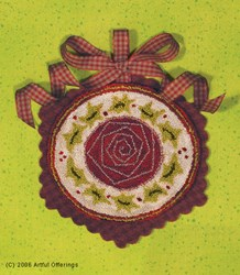 Christmas Rose Punchneedle Pattern