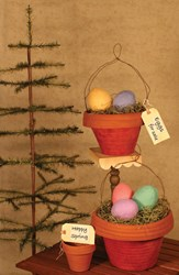 Quilted Clay Pot Pails & Woolly Goose Eggs Pattern