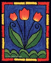 Tiffany Tulips Punchneedle Pattern & Button Pack