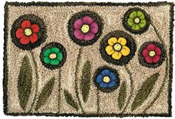 Playful Posies Punchneedle Pattern & Buttons Set