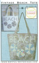 Vintage Beach Tote Pattern by Karina Hittle of Artful Offerings