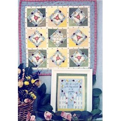 Flower Garden Wall Quilt or Stitchery Pattern