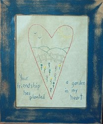 Friendship Heart Stitchery Pattern