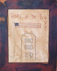 Home of the Brave Stitchery Pattern
