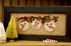 Snowmen on a Limb Punch Needle Pattern