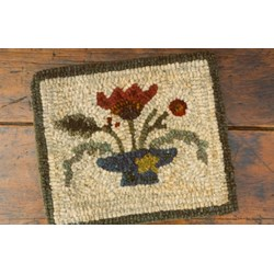 Folkart Blooms Rug Hooking Pattern