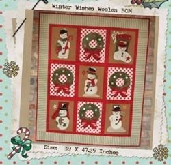 Winter Wishes Woolen Applique Quilt Pattern<br>Buttermilk Basin