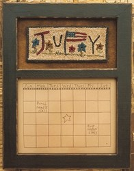Calendar Series - July - Punch Needle Pattern