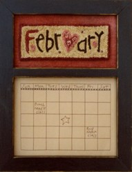 Calendar Series - February - Punch Needle Pattern