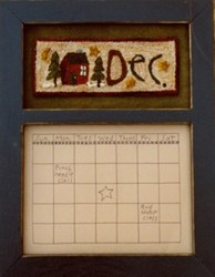 Calendar Series - December - Punch Needle Pattern