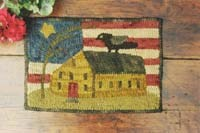 Tattered Flag Homestead Punch Needle Pattern<br>Buttermilk Basin